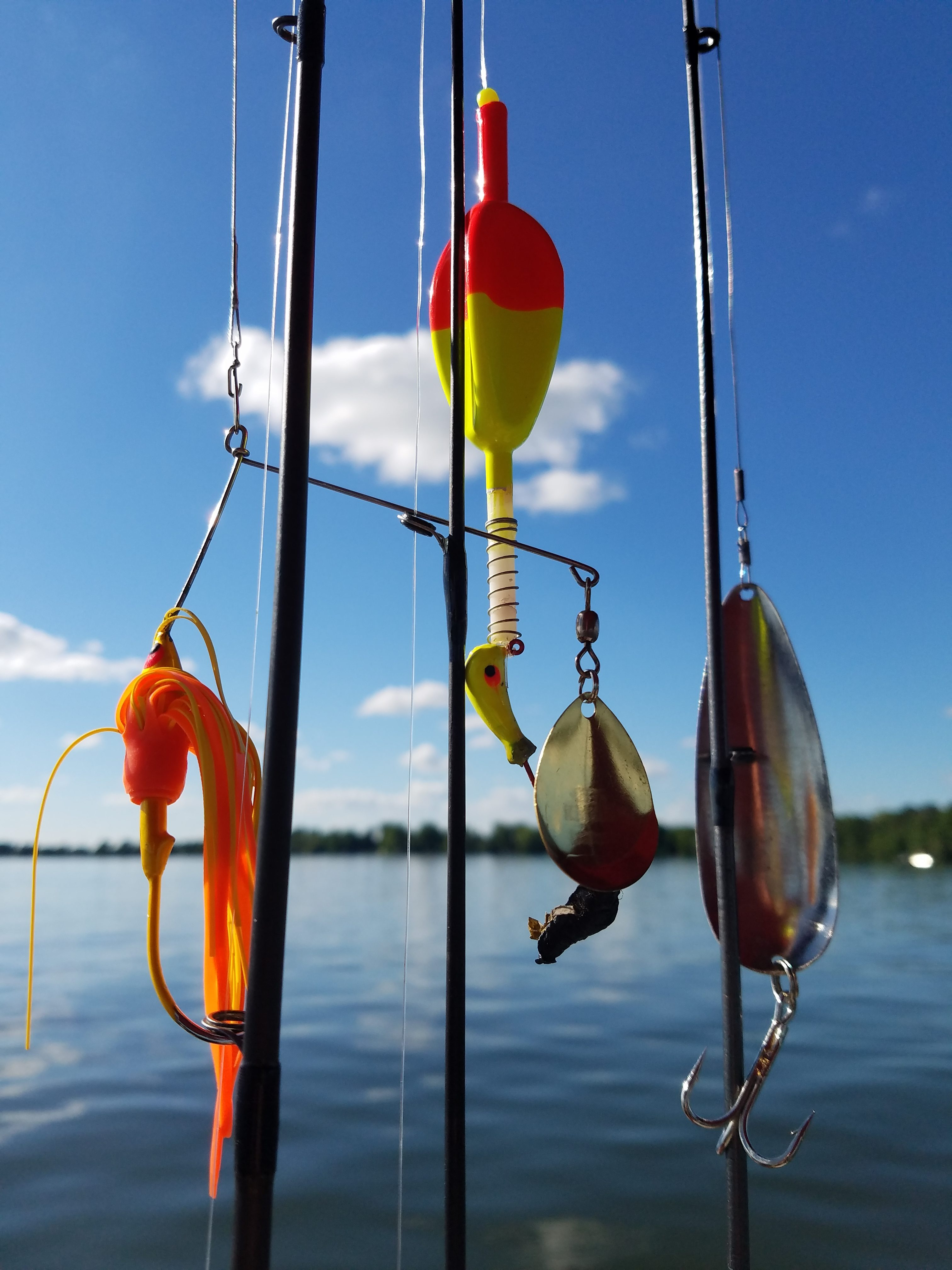 Fishing poles and lures